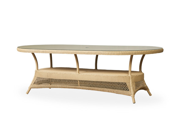 "85"" Oval Umbrella Dining Table Universal Loom by Lloyd Flanders"