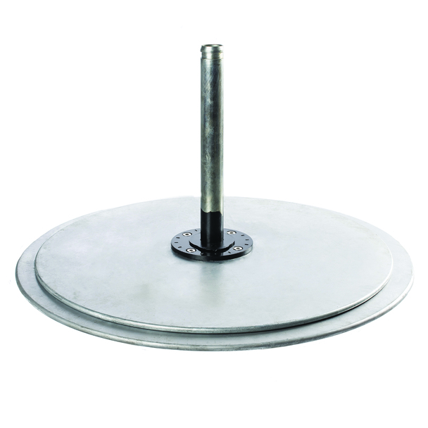 Galvanized Steel Matte Silver Double Plate Stack by Frankford Umbrella