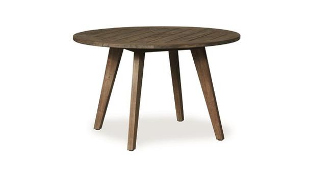 "Wildwood  48"" Round Umbrella Dining Table By Lloyd Flanders"
