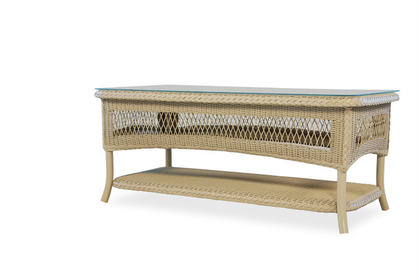 "Universal Loom 42"" Rectangular Cocktail Table 2x2 Weave By Lloyd Flanders"