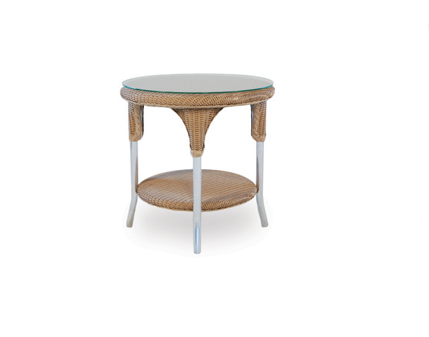 "Universal Loom 24"" Round End Table By Lloyd Flanders"