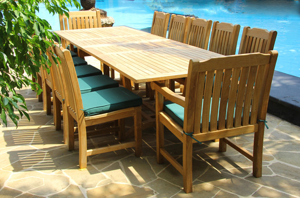 Deluxe Teak Dining Table Set 13PC