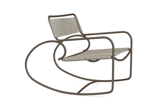 Walter Lamb Aluminum Rocking Chair  By Brown Jordan