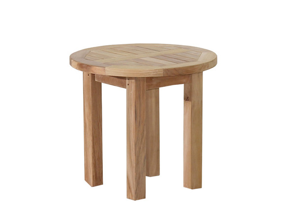 "Teak Side Table 20"" Round by Classic Teak"
