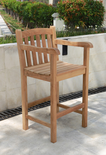 Classic Teak Arm Bar Chair