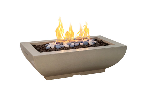 Bordeaux Rectangle Fire Bowl by American Fyre Design