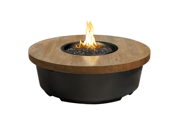 "47"" Chat Height Reclaimed Wood Contempo Round Firetable by American Fyre Design"