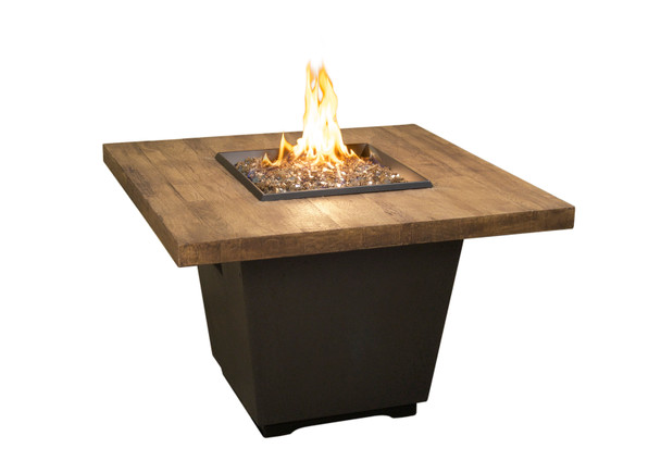 "36"" Reclaimed Wood Cosmo Square Firetable by American Fyre Design"
