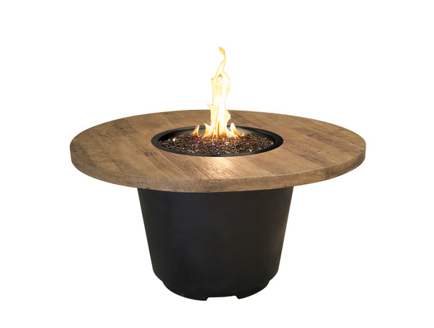 "48"" Reclaimed Wood Cosmo Round Firetable by American Fyre Design"