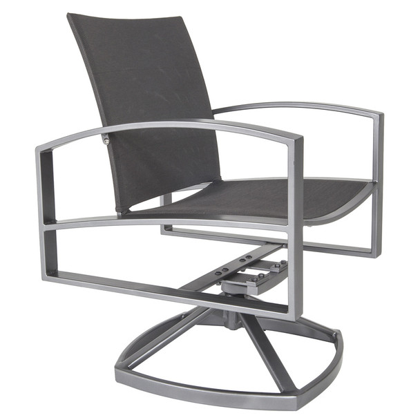 Pacifica Sling Swivel Rocker Dining Arm Chair by OW Lee