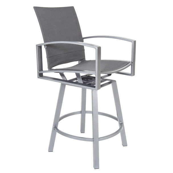 Pacifica Sling Swivel Bar Stool by OW Lee