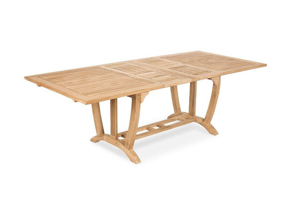 Deluxe Rectangular Ext. Teak Table (L)