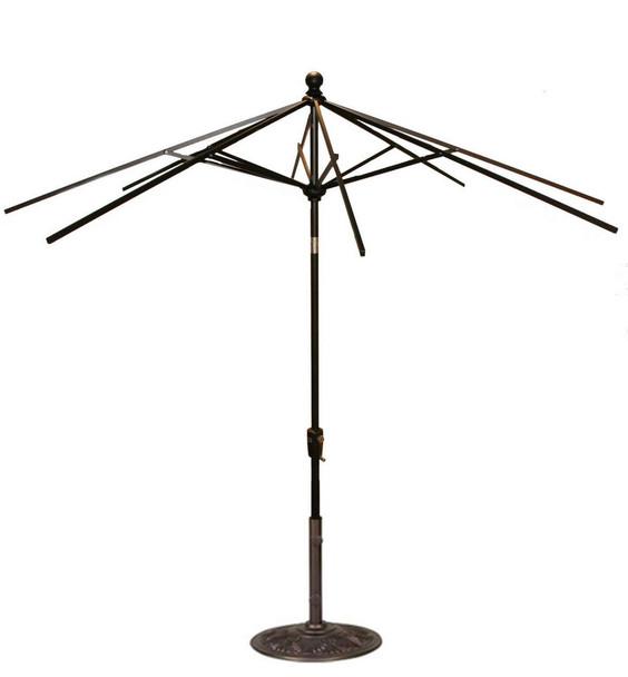 9FT Push Tilt Umbrella Frame Only By Treasure Garden