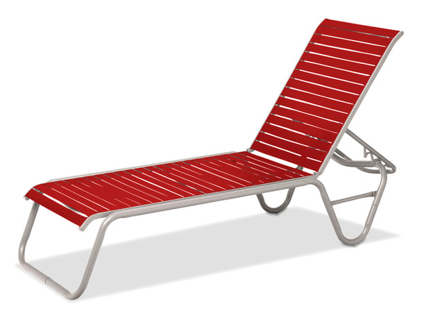 Reliance Contract Strap Stacking Armless Chaise by Telescope