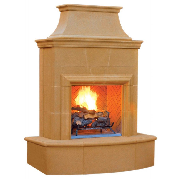 Petite Cordova Outdoor Gas Fireplace by American Fyre Designs