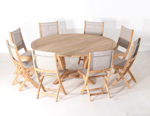 NEWPORT TEAK TABLE SET 9PC