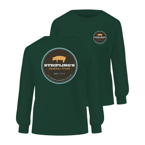 Stripling's Long Sleeve T-shirt - Hunter Green