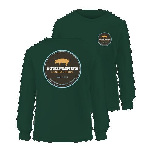 Stripling's Long Sleeve T-shirt - Hunter Green