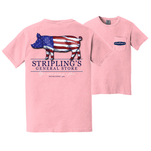 Stripling's Short Sleeve American Pig T-shirt- Blossom