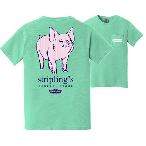 Stripling's Short Sleeve Sassy Pig T-shirt- Island Reef