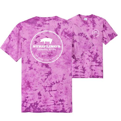 Stripling's White Logo-Purple Tie Dye