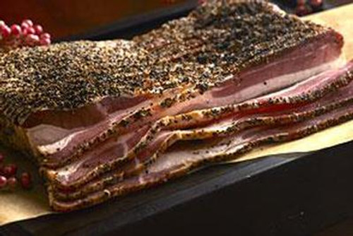 Pepper Encrusted Smoked Bacon 1lb