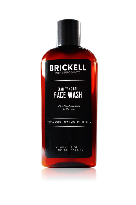 Brickell Men's Products Clarifying Gel Face Wash (237ml)