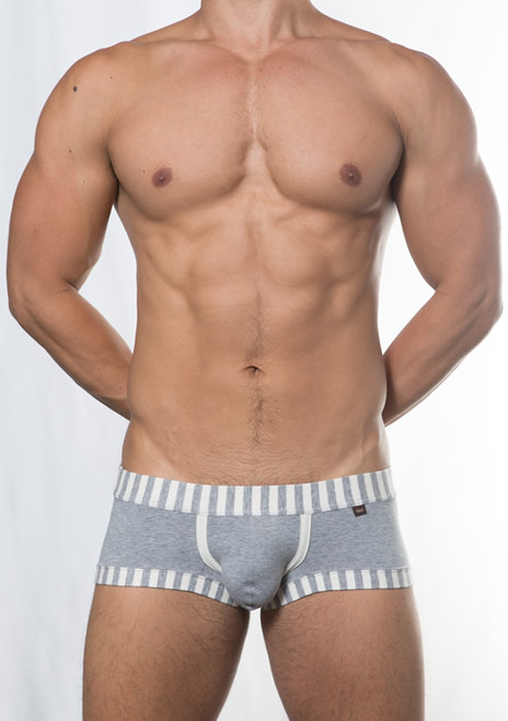 TOOT Underwear Block Stripe Nano Trunk Gray (NB85E246-Gray)