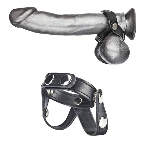 Blueline V-Style Cock Ring with Ball Divider (BLM1722)