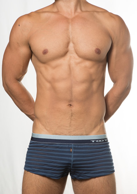 TOOT Underwear See-Through Stripe Trunks (KT15E386-Navy)