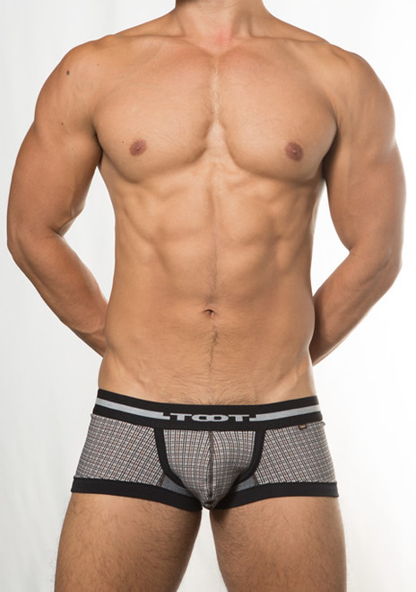 TOOT Underwear Houndstooth PT Trunk Black (CB73E387-Black)
