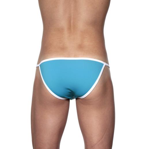Groovin' Accent String Bikini Cyan Blue