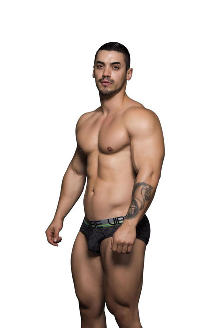 Andrew Christian Underwear Vibe Sports Tagless Brief Asphalt (90078-ASP)