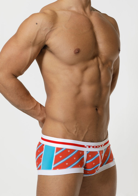 TOOT Underwear Regimental Stripe Nano Trunk Red (NB05G356-Red)