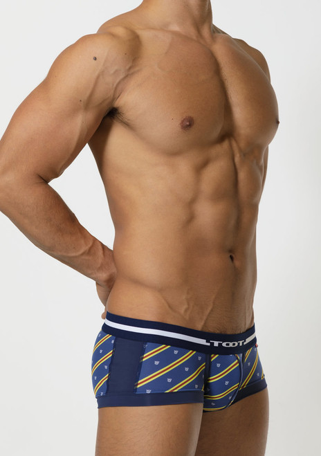 TOOT Underwear Regimental Stripe Nano Trunk Navy (NB05G356-Navy)