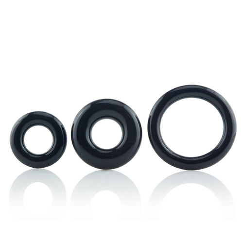 Screaming O RingO x3 Rock Rings Black (RNGO-3P-101-BLK)