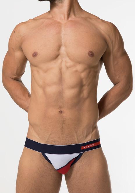 TOOT Underwear Tilt Line Flat Bikini Red (FF27G376-Red)