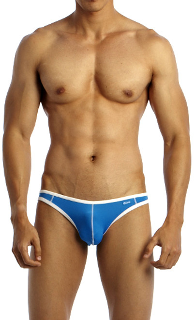 Groovin' Underwear Accent V-Cut Bikini Blue Front View