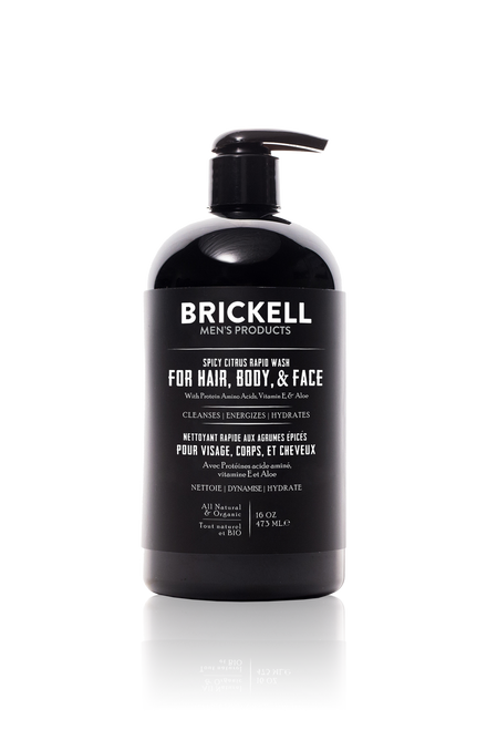 Brickell Men's Products All-in-One Wash - Spicy Citrus (474ml)