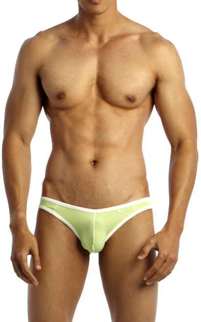 Groovin' Underwear Accent V-Cut Bikini Green Front View