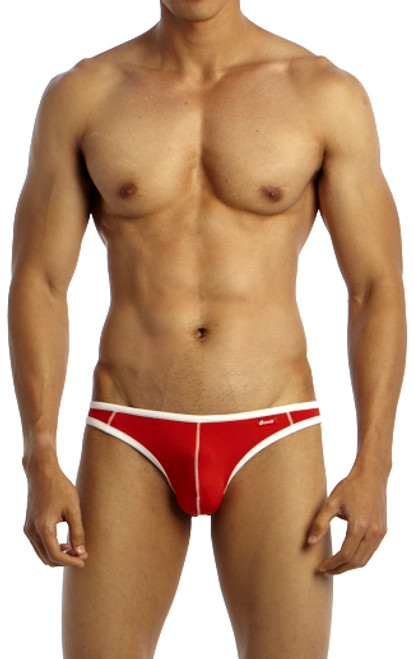 Groovin' Underwear Accent V-Cut Bikini Red Front View
