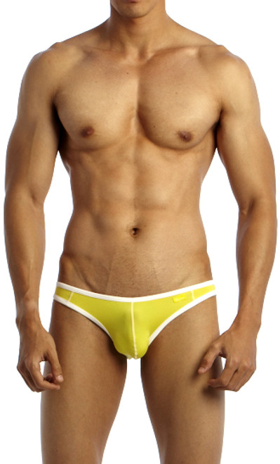 roovin' Underwear Accent V-Cut Bikini Yellow Front View