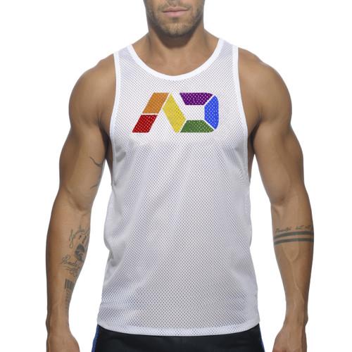 Addicted AD Rainbow Tank Top White ( AD542-01)