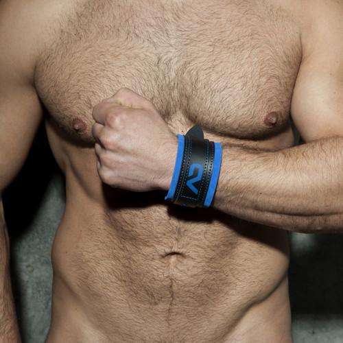 Addicted Fetish Leather Bracelet Royal Blue ADF42