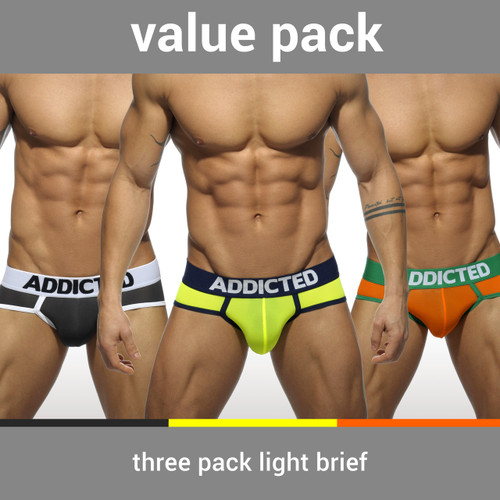 Addicted Underwear 3-Pack Light Brief (AD402P)