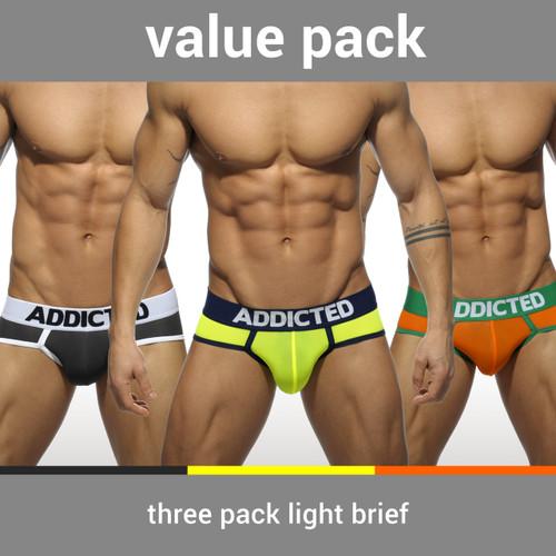 Addicted Underwear 3-Pack Light Brief (AD402P)