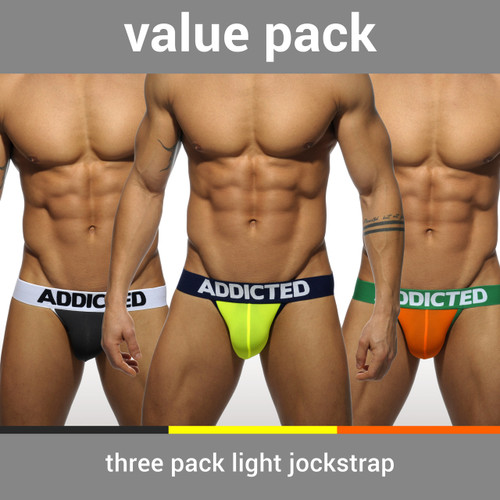 Addicted Underwear 3-Pack Light Jockstrap (AD404P)