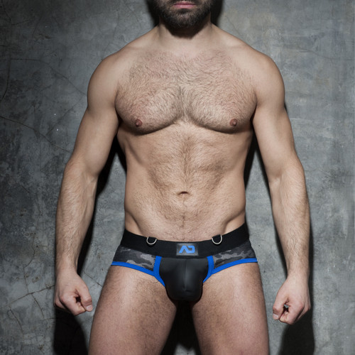 Addicted Underwear Fetish Camo Mesh Brief Royal Blue (ADF71-Royal Blue)
