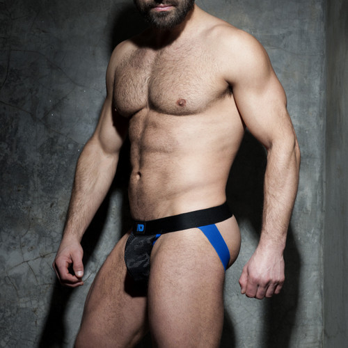 Addicted Underwear Fetish Camo Mesh Jock Royal Blue (ADF73-Royal Blue)