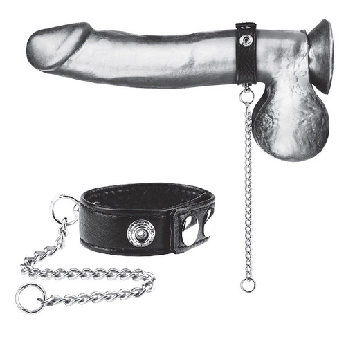 """Blueline Snap Cock Ring with 12"""" Leash (BLM3041)"""